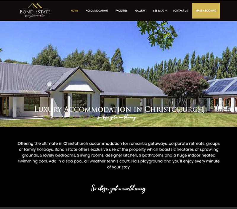 Website for Bond Estate by Kiwi Web Works