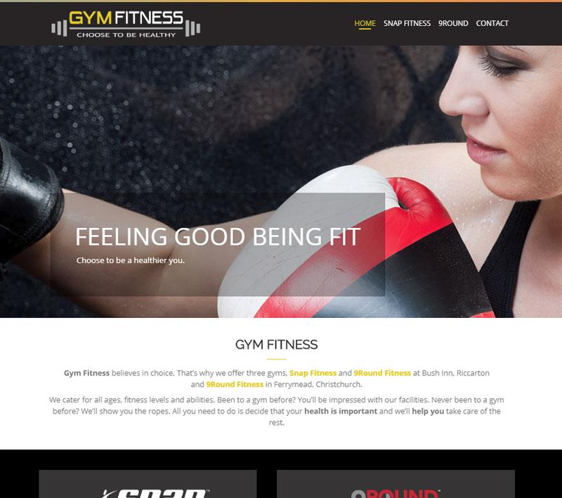 Website for Gym Fitness by Kiwi Web Works