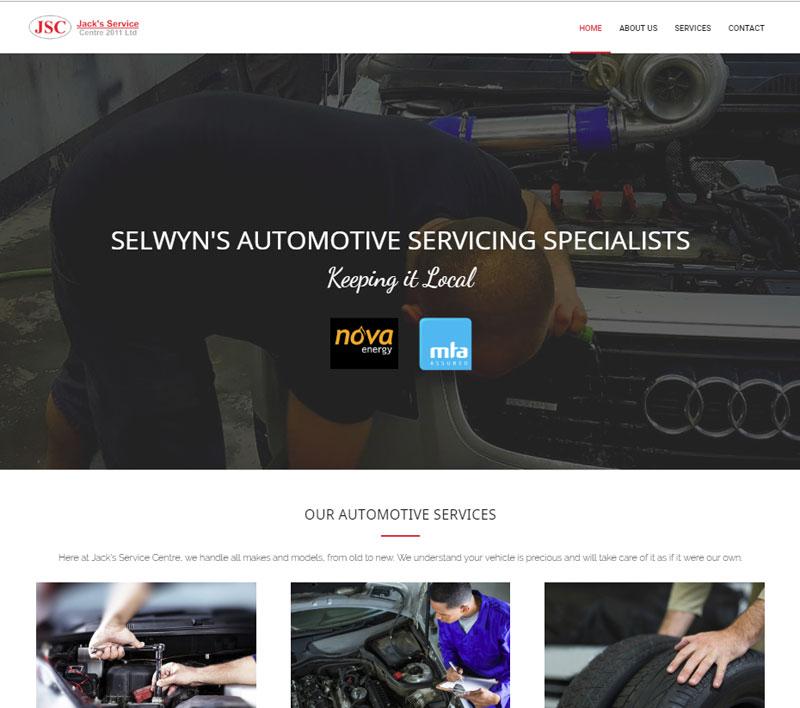 Website for Jack's Service Centre by Kiwi Web Works
