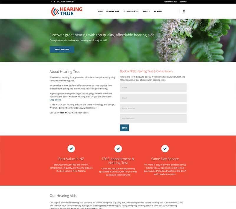 Hearing True Website by Kiwi Web Works