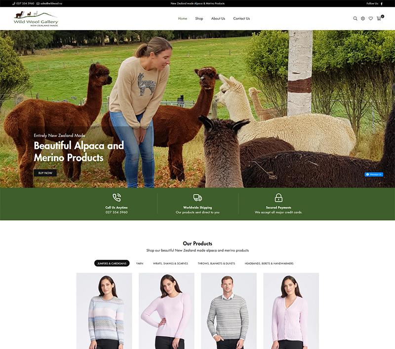 Wild Wool Gallery - Shopify Website
