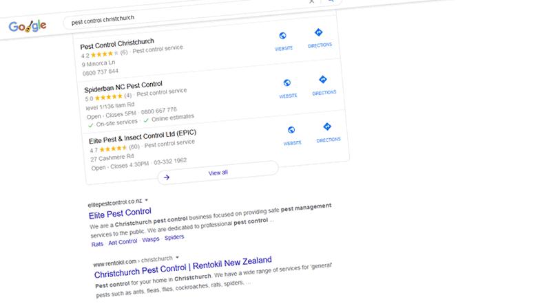 Organic search rankings