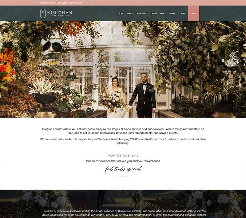 Kim Chan Events website by Kiwi Web Works