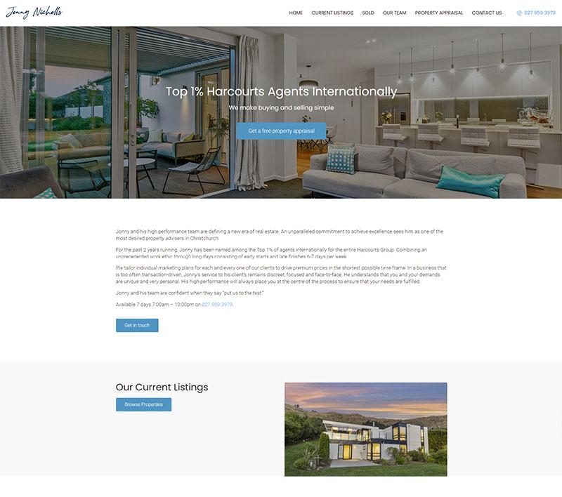 Jonny Nicholls Website by Innovate Digital