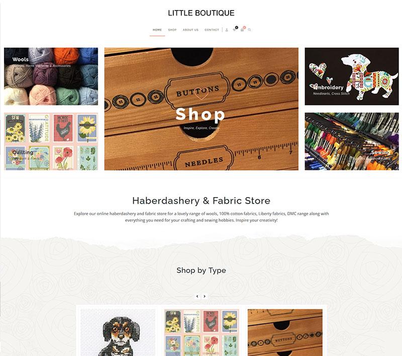 Little Boutique ecoommerce website design by Innovate Digital