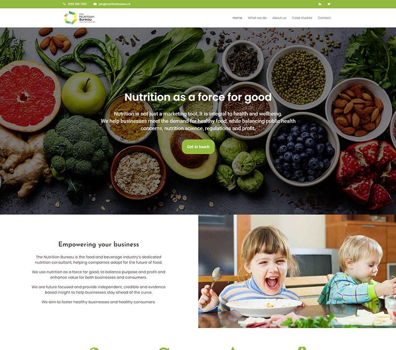 The Nutrition Bureau website design by Innovate Digital